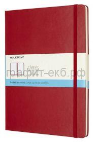 Книжка зап.Moleskine XLarge Classik в точку красная QP093F2