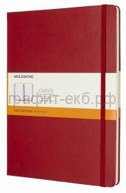 Книжка зап.Moleskine XLarge Classik линейка красная QP090F2