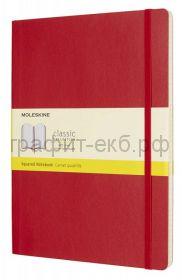 Книжка зап.Moleskine XLarge Soft Classik клетка красная QP622F2