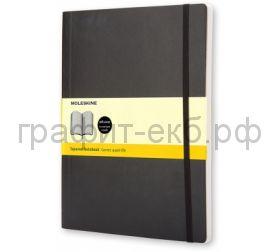 Книжка зап.Moleskine XLarge Soft Classik клетка черная QP622