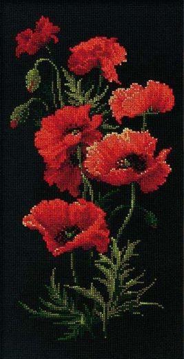 Набор для вышивания крестом Маки №1057 фирма Риолис