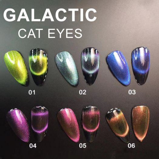 Гель лак GALACTIC CAT EYE 10 мл 01