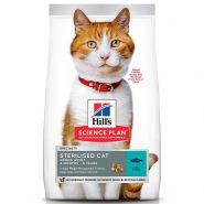 Hill's Feline Young Adult Sterilised Cat Tuna - Для стерилизованных кошек с тунцом (1,5 кг)