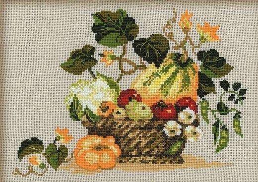 Набор для вышивания крестом Плоды осени №1076 фирма Риолис