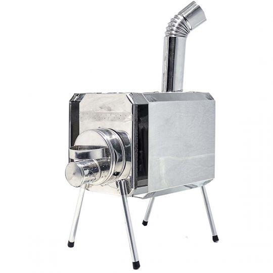 Печка-Пошехонка Турист 15 л с встроенным искрогасителем и экраном
