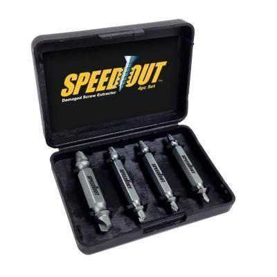 Сверло для бытовой дрели или перфоратора Speed Out 4шт
