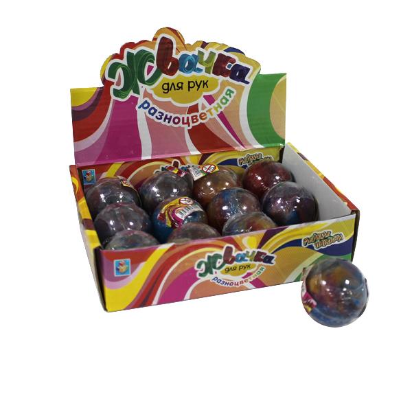 1toy Мелкие пакости, жвачка для рук разноцветная, шар