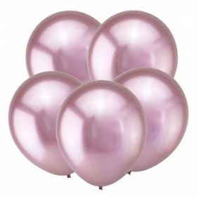 "Розовый, Зеркальные шары, 12"", 50 шт (Турция)"