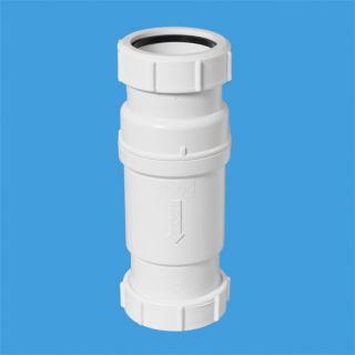 """Самозакрывающийся сливной клапан (""""сухой"""" сифон); Ду=50ммхДу=50мм (компрессионное соединение). Упакован в пластиковый пакет."""