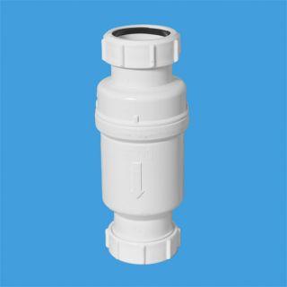 """Самозакрывающийся сливной клапан (""""сухой"""" сифон); Ду=40ммхДу=40мм (компрессионное соединение). Упакован в блистер."""