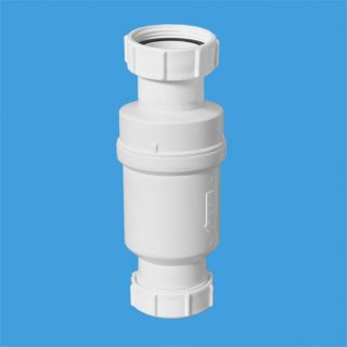 """Самозакрывающийся сливной клапан (""""сухой"""" сифон); вход 1 1/2""""«мама», выход компрессионный Ду=40мм. Упакован в пластиковый пакет"""