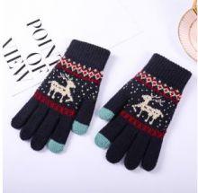 Вязаные шерстяные женские и подростковые сенсорные перчатки