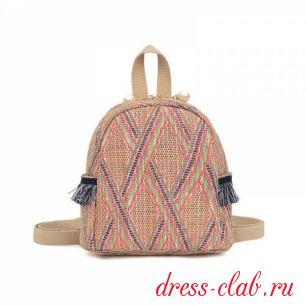 Рюкзак женский соломенный