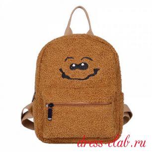 Рюкзак подростковый плюшевый