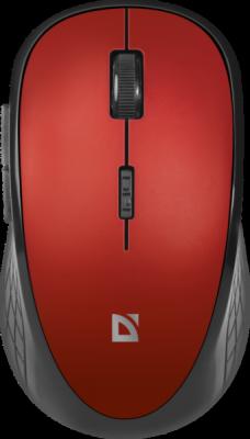 Беспроводная оптическая мышь Hit MM-415 6 кнопок,1600dpi, красный