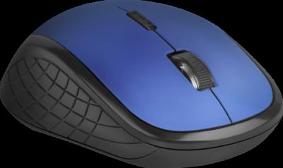 НОВИНКА. Беспроводная оптическая мышь Aero MM-755 6D,1600dpi,бесшумная, синий