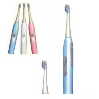 Электрическая зубная щетка со сменными головками, Цвет: Голубой