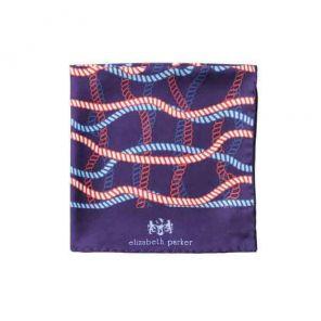 Английский нагрудный платок Тесьма (красный, белый,синий)  RED, WHITE AND BLUE ROPE TWIST SILK POCKET SQUARE
