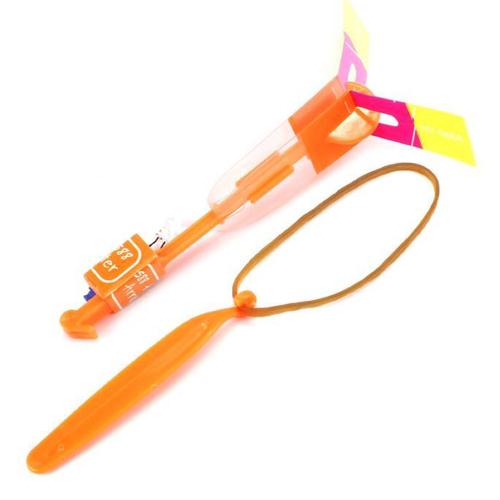 Светящаяся LED стрела-вертолётик в тубе, цвет - оранжевый.