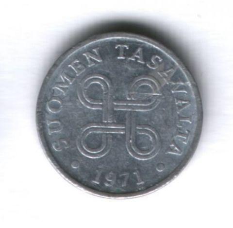 1 пенни 1971 года Финляндия