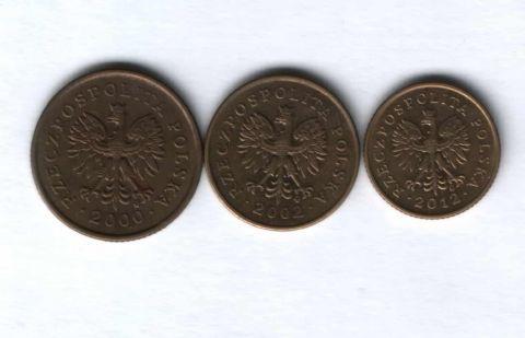 Набор монет Польша 2000-2012 г. 3 шт.