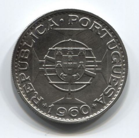 20 эскудо 1960 года Мозамбик Португалия AUNC