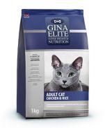 Gina Elite ADULT CAT Chicken & Rice Полнорационный корм для взрослых кошек с курицей и рисом, 3кг