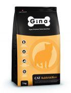 Gina Cat Rabbit&Rice Denmark Полнорационный сбалансированный корм для для взрослых кошек с нормальным уровнем активности, 1кг
