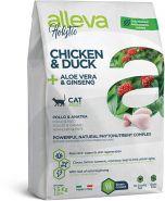 Alleva Holistic Chicken & Duck + Aloe vera & Ginseng Полнорационный сухой корм для взрослых кошек, с курицей и уткой, 1.5кг