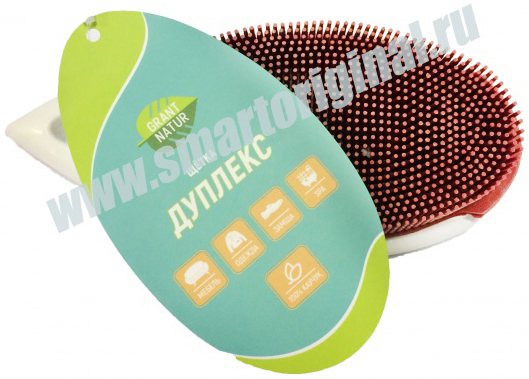 Smart Microfiber Щётка Дуплекс малиновая серия Грант Натур