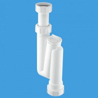 сифон трубный S-образный (1 1/4'x32мм) без выпуска; вертикальный компрессионный выход Ду=32мм