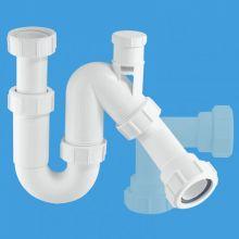 сифон трубный Р/S-образный (1 1/2'х40мм) без выпуска с вентиляционным клапаном и универсальной отводной трубой D40мм с компрессионным окончанием Ду=40мм