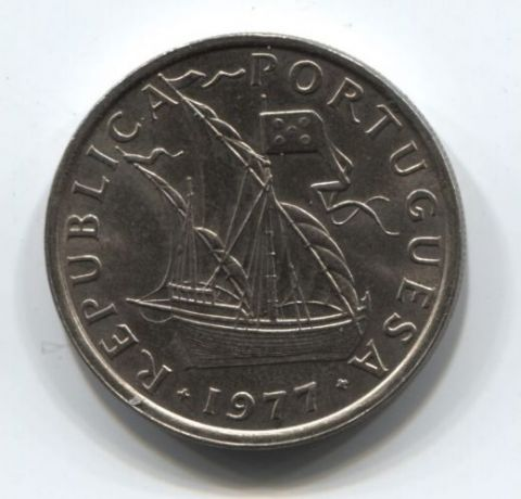 5 эскудо 1977 года Португалия AUNC