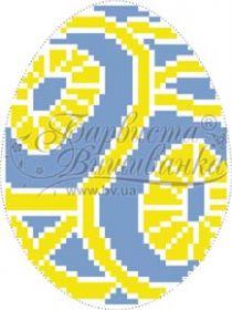 Барвиста Вышиванка ТР366 Пасхальная Игрушка схема для вышивки бисером купить оптом в магазине Золотая Игла