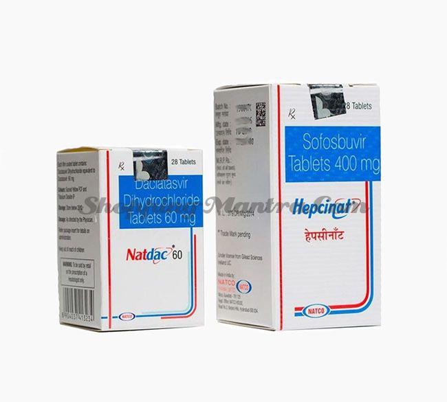 Гепцинат (софосбувира 400 мг) + Натдак (Даклатасвир 60мг) Натко Фарма   Hepcinat (sofosbuvir 400 mg) + Natdac (Daclatasvir 60 Mg) Natco Pharma