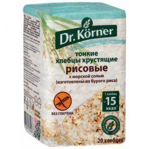 Хлебцы Dr.Korner Рисовые с морской солью 100г