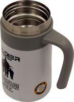 Термос-кружка для напитков Steel Office Cup 520 мл белая