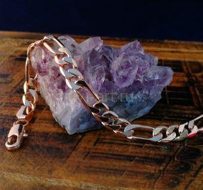 """Позолоченный браслет, плетение """"фигаро"""", 6 мм (арт. 250215)"""