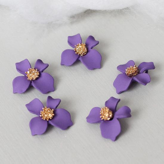 Кукольный аксессуар Подвеска Цветок фиолетовый матовый