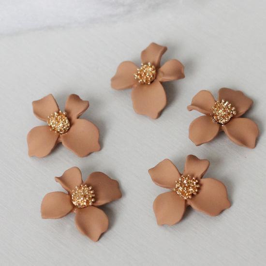 Кукольный аксессуар Подвеска Цветок крем-брюле матовый