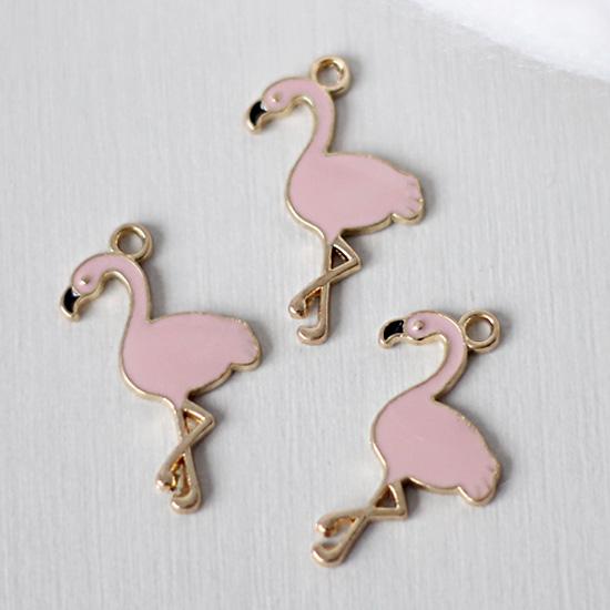 Кукольный аксессуар Подвеска Розовый фламинго