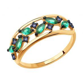 Кольцо из золота с фианитами 018371 SOKOLOV