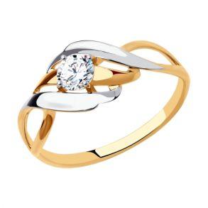 Кольцо из золота с фианитом 018535 SOKOLOV