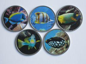 Тропические рыбы Набор монет  3 ринггит Лабуан 2020