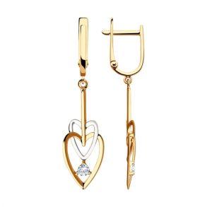 Серьги из золота с фианитами 028608 SOKOLOV