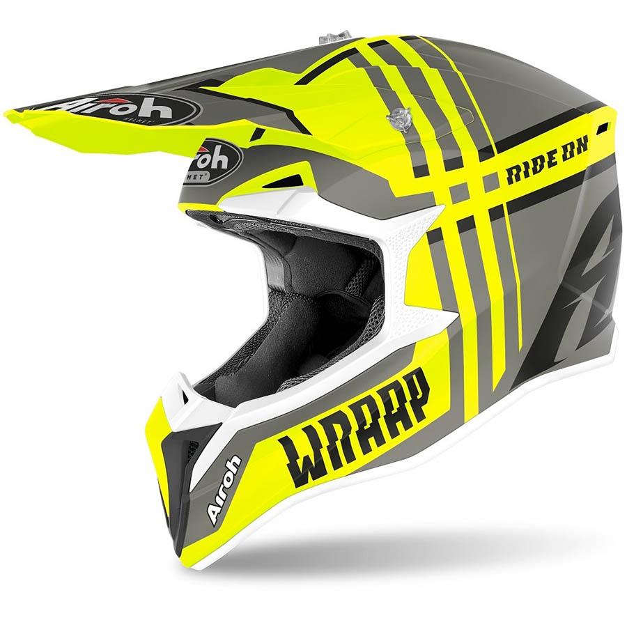 Airoh Wraap Broken Yellow Matt шлем, желтый матовый