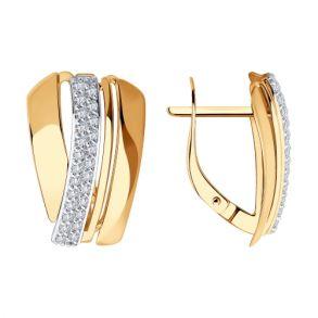 Серьги из золота с фианитами 028821 SOKOLOV