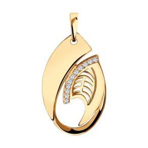 Подвеска из золота с фианитами 035912 SOKOLOV