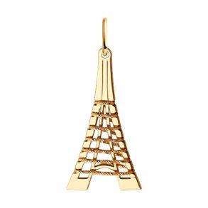 Подвеска из золота Эйфелева башня 035941 SOKOLOV