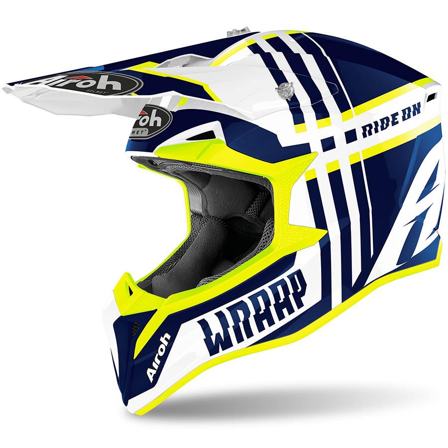 Airoh Wraap Broken Blue Gloss шлем, синий
